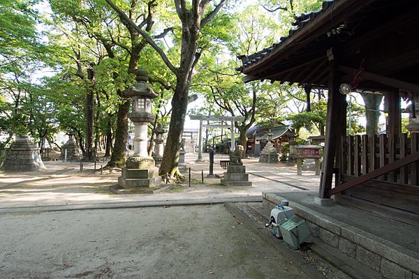 長良八劔社境内の風景