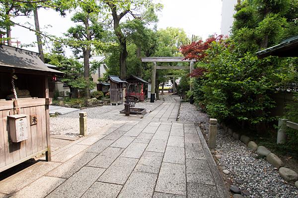 洲嵜神社境内の風景