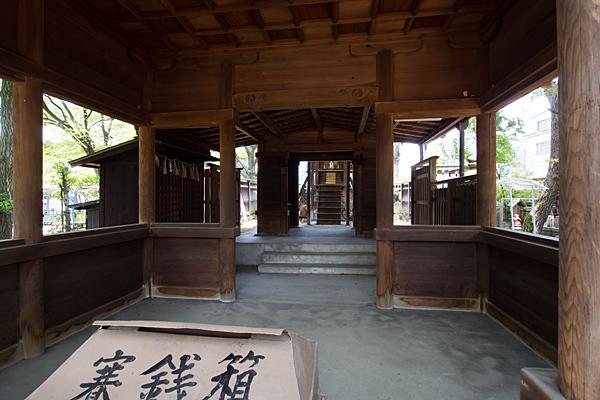須佐之男社拝殿内部