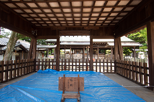 牛立八幡社拝殿