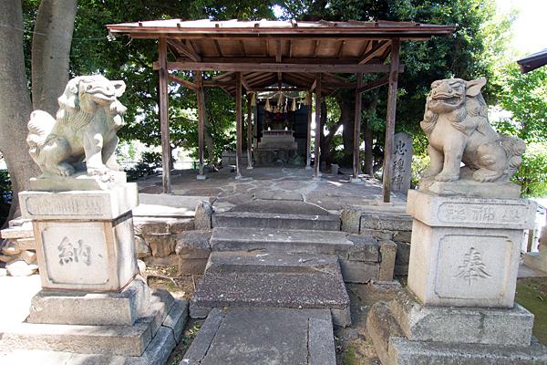 松原山神社狛犬と