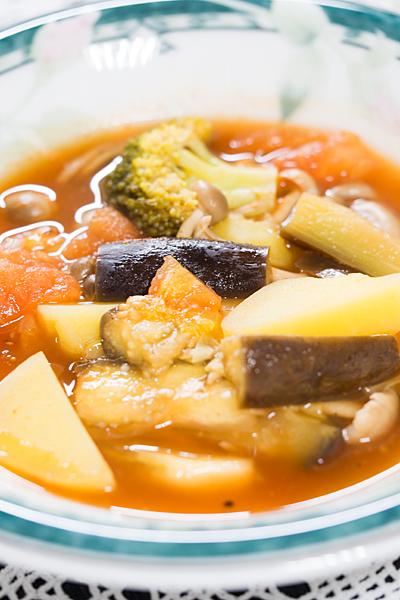 野菜のトマトケチャップスープ