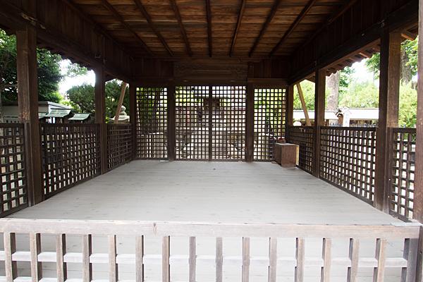 中山神明社拝殿内