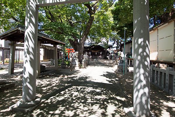 田光八幡社二の鳥居