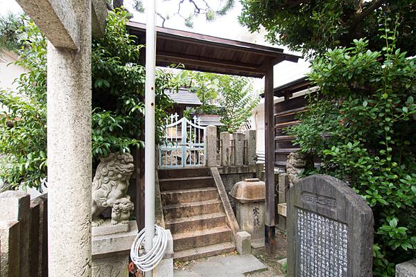 内浜神社境内の様子