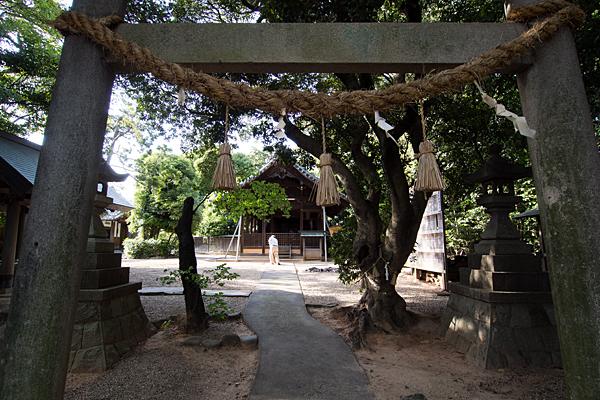 下山町山神社境内の風景