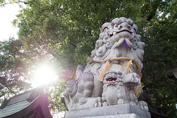 東八幡社狛犬