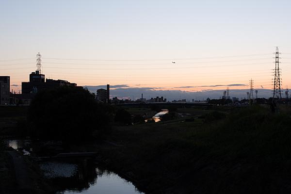 川辺矢田川夕暮れ