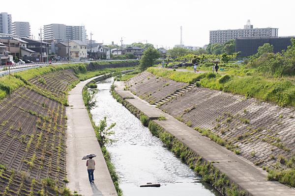 香流川の風景