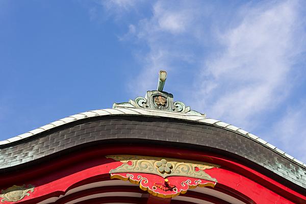 上野天満宮拝殿屋根
