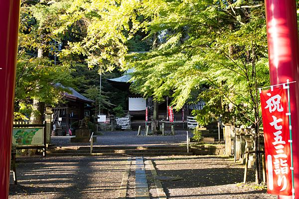 内々神社鳥居から境内