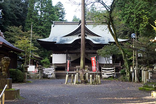 内々神社拝殿と御神木