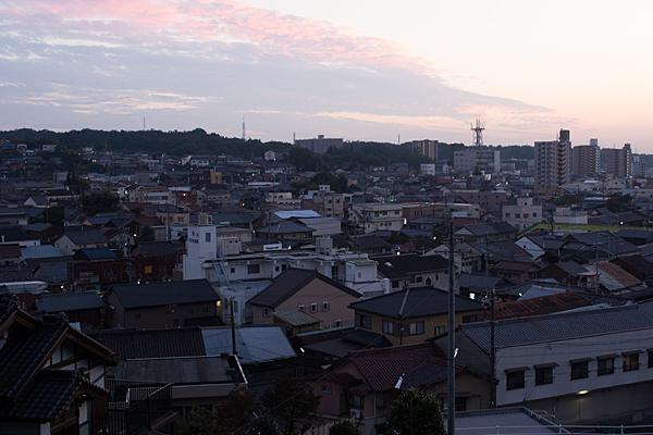瀬戸の町並み夕景