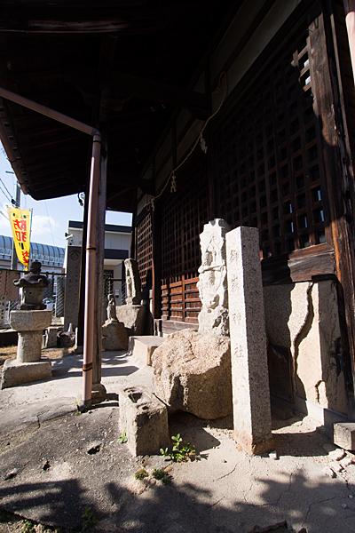 平針御嶽神社横から