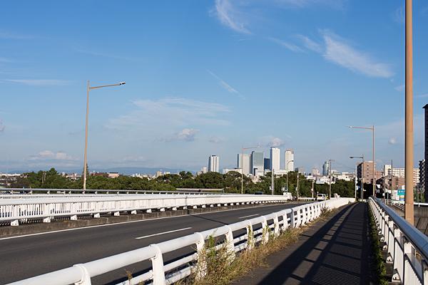 橋と遠くの名駅ビル
