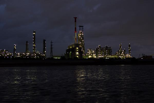 塩浜工場夜景鈴鹿川河口
