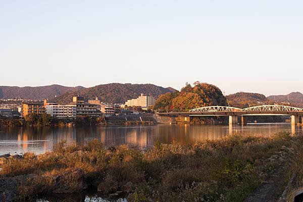 木曽川夕景