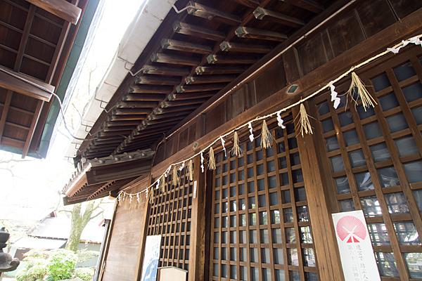 熊野社本殿前