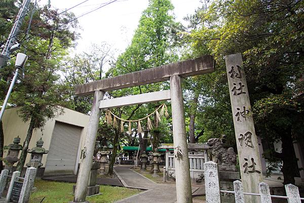 城屋敷神明社東鳥居