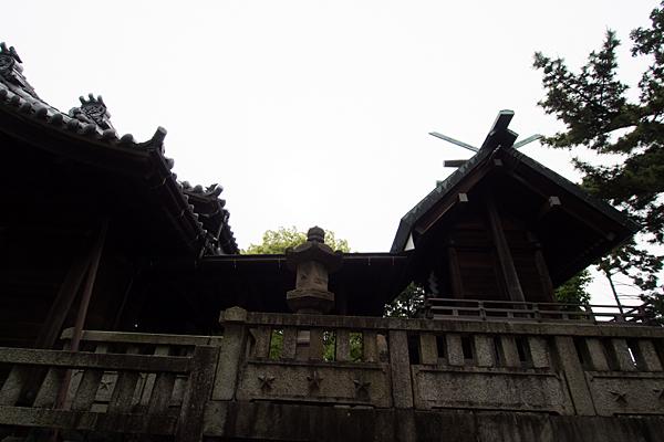 赤星神社本殿横から