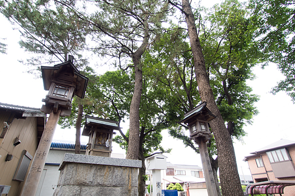 春田熱田社境内社と木