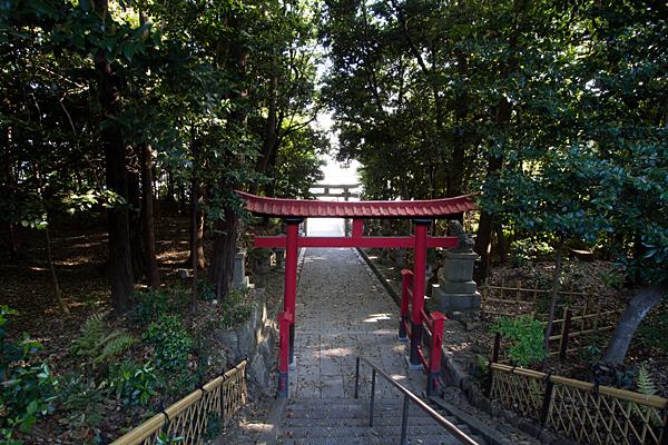 日吉神社境内から見下ろす