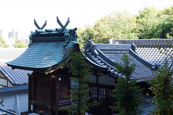 日吉神社本殿後ろから