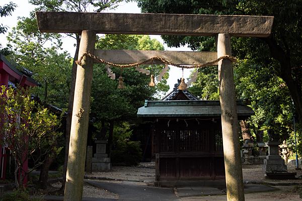 田代町山神社鳥居前