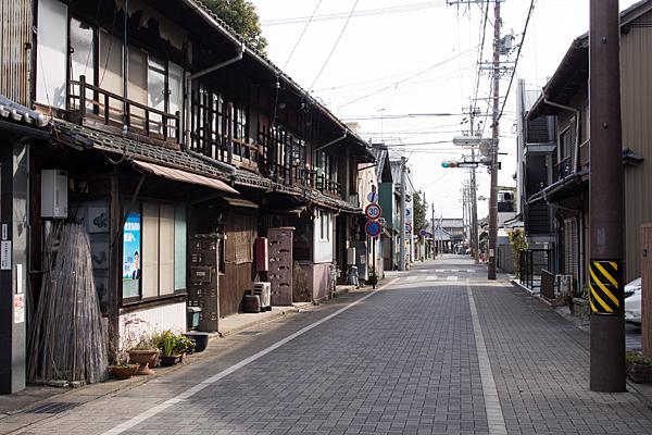 犬山城下の街並み