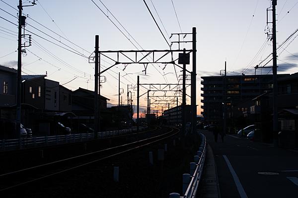 瀬戸線夕暮れ