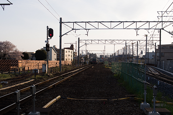 喜多山駅方面夕景