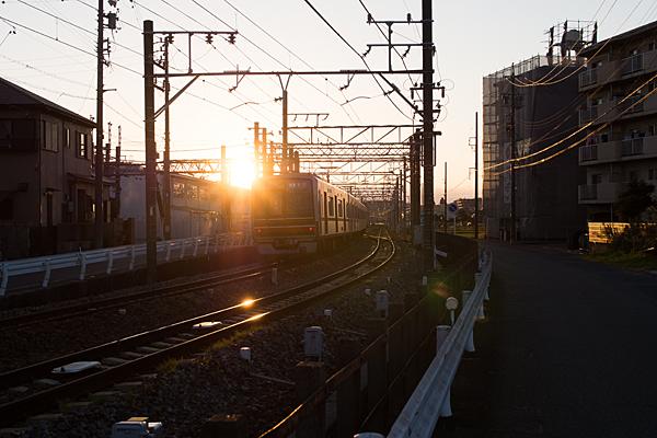 瀬戸線と夕日