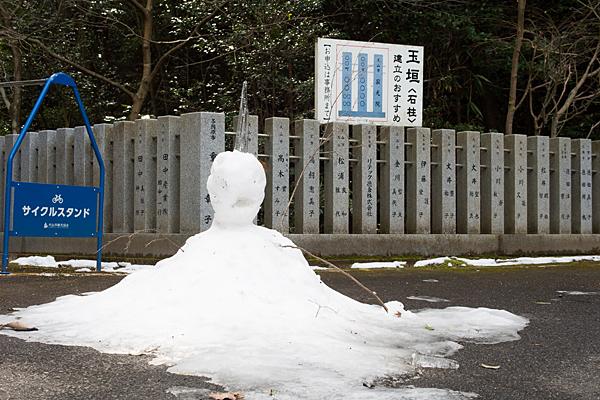 寂光院雪だるま