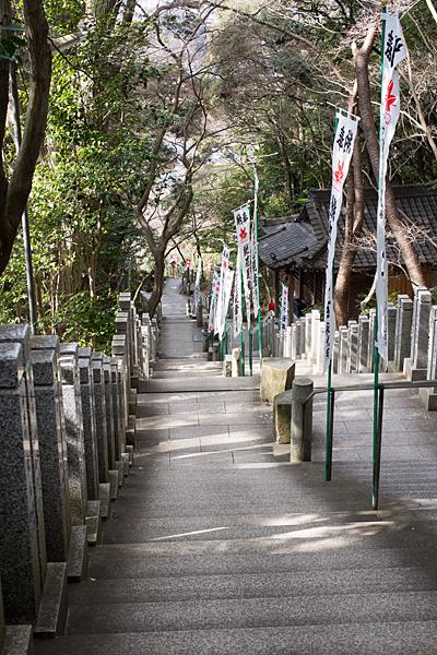 寂光院参道の階段