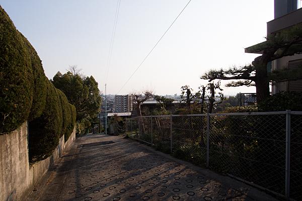 坂の上からの風景