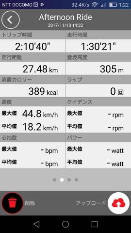 2017/11/10走行時間2