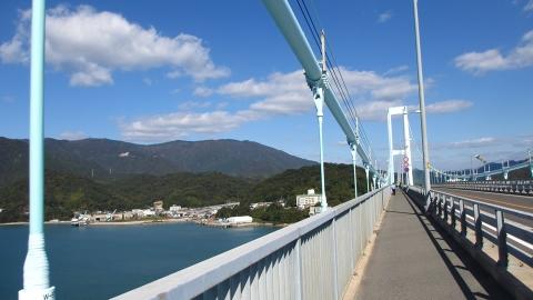 安芸灘大橋からの景色。