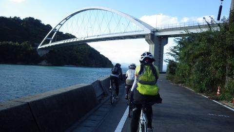 岡村大橋が見えてきました。