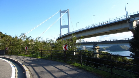 来島海峡大橋が見えてきました。