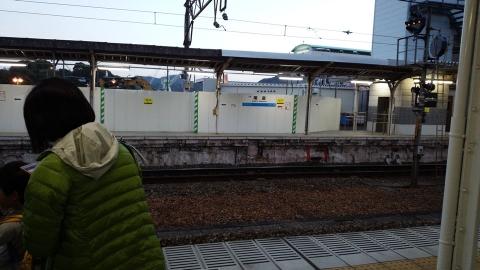 尾道駅は工事中、来年は綺麗になってるかなぁ?