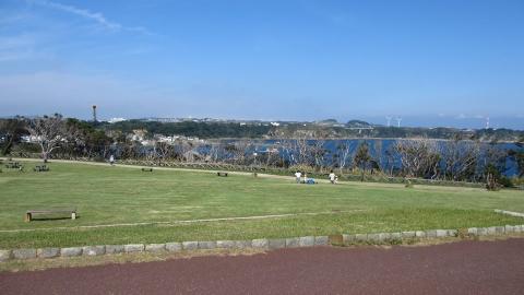 城ヶ島公園、景色が素晴らしいところです。千葉も見える。