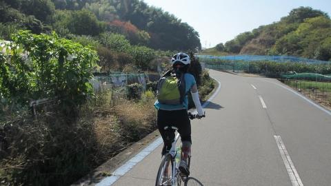 その後は生口島の西ルートを走ります。