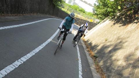 生口橋へのスロープ