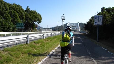 大三島橋が見えてきました。