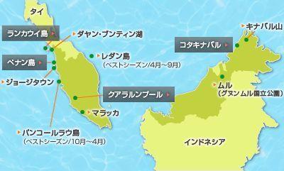 レダン島マレーシア地図