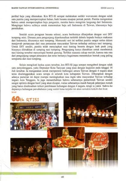 RADIO TAIWAN INTERNASIONAL(INDONESIA) BULLETIN EDISI 2017/3