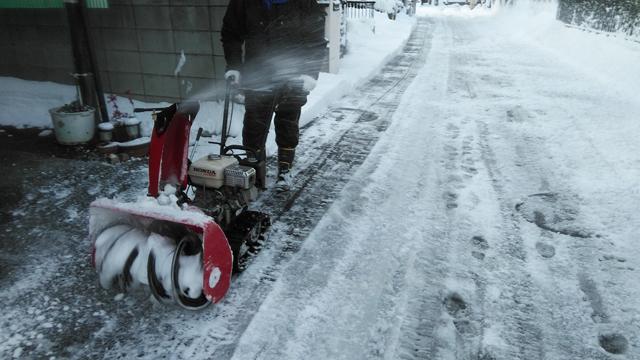 今年も登場小さな除雪車