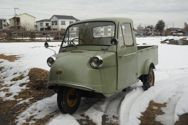 ミゼットで雪の中へ