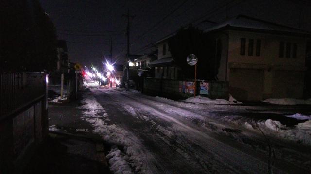 1/23 大坂上から神明に向かう道