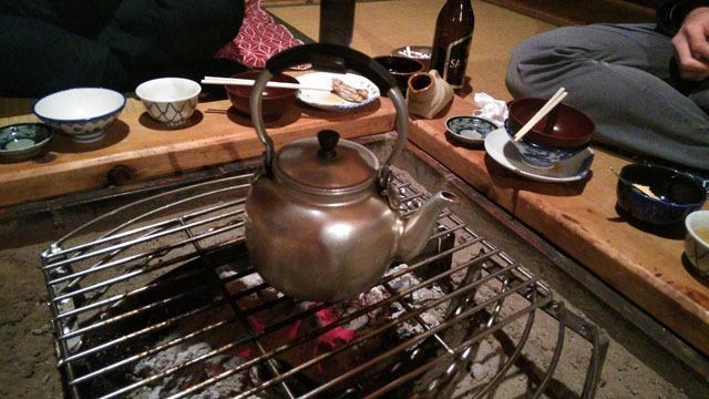 鎌田鳥山、最後に出てくる、お茶